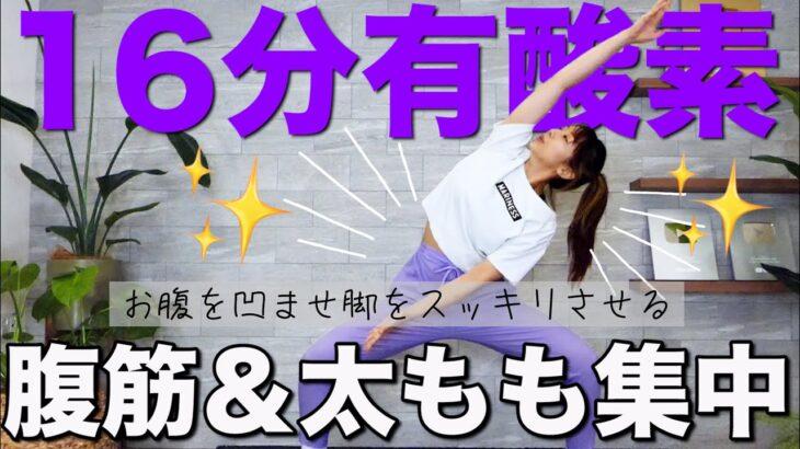 【しっかり16分】マンションOK!腹筋と脚が引き締まる有酸素運動!!
