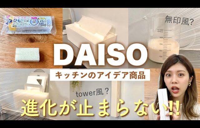 【ダイソー購入品】キッチンのアイデア新商品が便利!購入時の注意点も😱